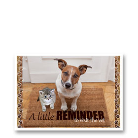 3-Up Veterinary Postcards - Reminder Doormat