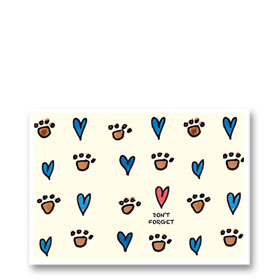 3-Up Veterinary Postcards - Heart Reminder