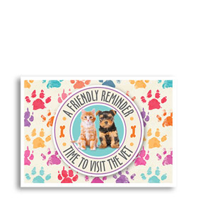 3-Up Veterinary Postcards - Pet Circle