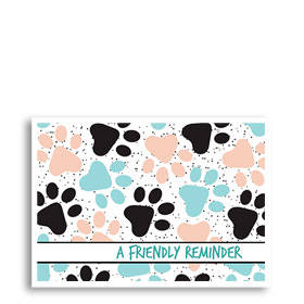 3-Up Veterinary Postcards - Pastel Paws