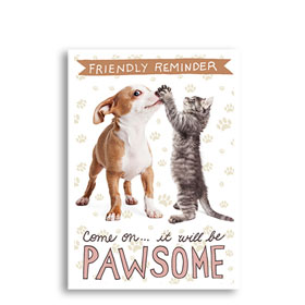 3-Up Veterinary Postcards - Pawsome Duo