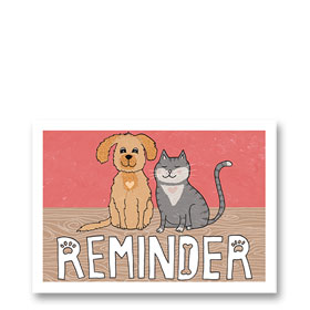 3-Up Veterinary Postcards - Sweetheart Reminder