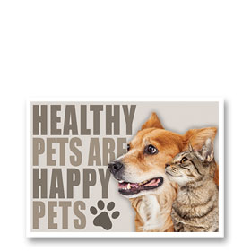 3-Up Veterinary Postcards - Healthy Pets