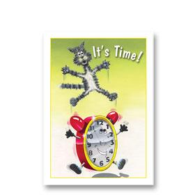 3-Up Veterinary Postcards - Time Reminder