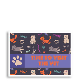 3-Up Laser Veterinary Postcards - Orange Cat