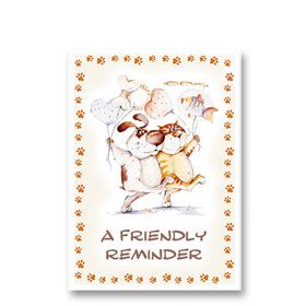 3-Up Laser Veterinary Postcards - Bring a Friend