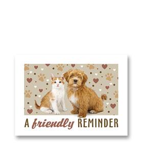 3-Up Veterinary Postcards - Friendly Hearts