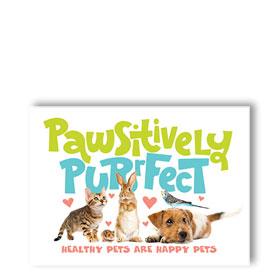 3-Up Laser Veterinary Postcards - Purrfect Reminder