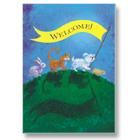 4-Up Veterinary Postcards - Welcome Banner