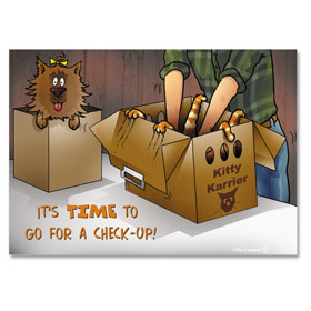 4-Up Veterinary Postcards - Kitty Karrier