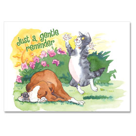 4-Up Veterinary Postcards - Gentle Reminder