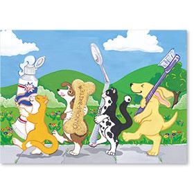 Standard Postcards-Dental Parade