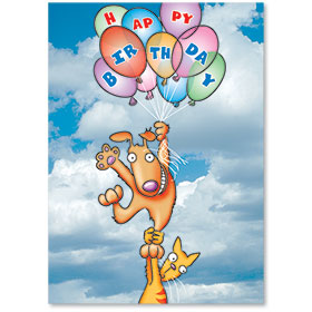 Standard Veterinary Birthday Postcards - Floating Birthday