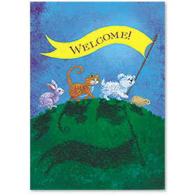 Standard Veterinary Reminder Postcards - Welcome Banner