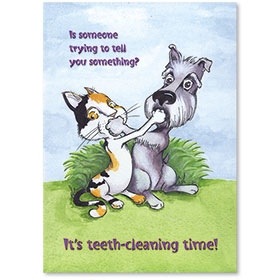 Standard Veterinary Reminder Postcards - Trying To Tell You