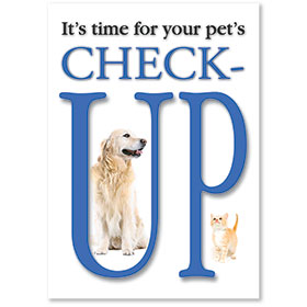 Standard Postcards-Pet's Check-Up