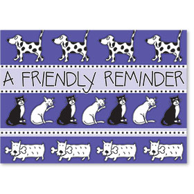 Standard Postcards-Purple Pals