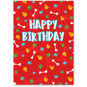 Standard Veterinary Birthday Postcards - Reminder Party