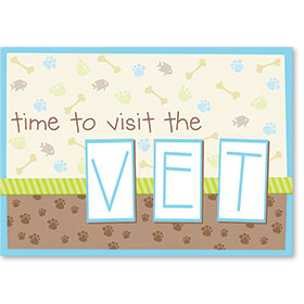 Standard Veterinary Reminder Postcards - Scrapbook Reminder