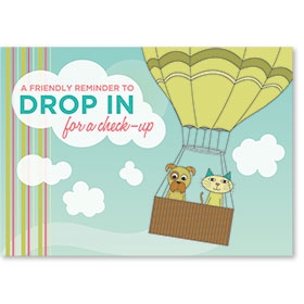 Standard Veterinary Reminder Postcards - Drop In