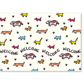 Standard Veterinary Postcards - Tiny Pets Welcome