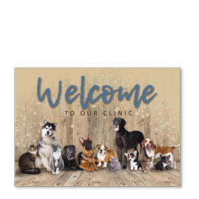 Standard Veterinary Postcards - Welcome Crew