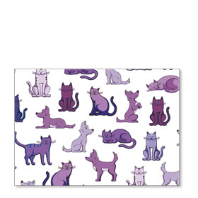 Standard Veterinary Postcards - Purple Pets
