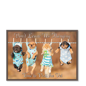 Standard Veterinary Postcards - Clothesline
