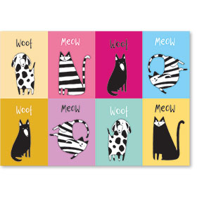 Standard Veterinary Postcards - Playful Pets