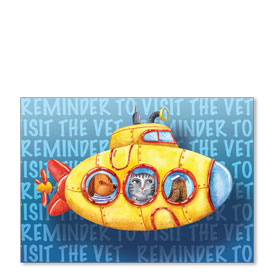 Standard Veterinary Reminder Postcards - Sea Reminder