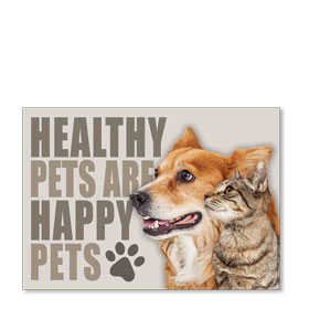 Standard Veterinary Reminder Postcards - Healthy Pets