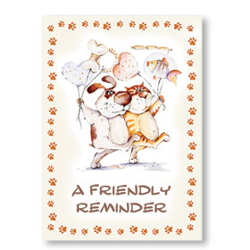 Standard Veterinary Postcards - Bring a Friend