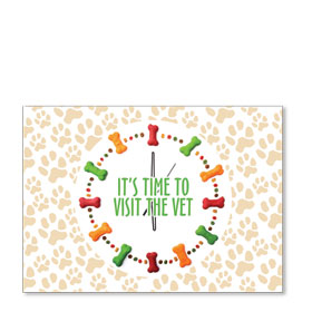 Standard Veterinary Postcards - Treat Clock