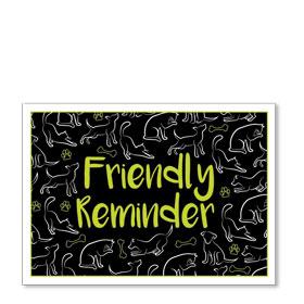 Standard Veterinary Reminder Postcards - Lime Letters