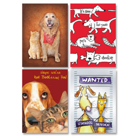 Veterinary Reminder Postcards Assortment - Laser Pkg 02