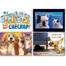 Veterinary Reminder Postcards Assortment - Laser Pkg 03