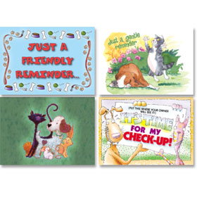 Clearance - Veterinary Reminder Postcards Assortment 4
