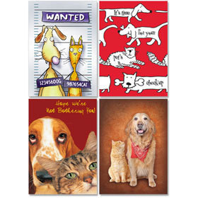 Personalized Veterinary Reminder Postcards Assortment - PC Pkg 02