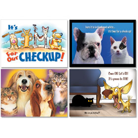 Personalized Veterinary Reminder Postcards Assortment - PC Pkg 03