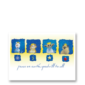 3-Up Veterinary Holiday Postcards - Kings & Queens