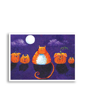 3-Up Veterinary Holiday Postcards - Light Of The Moon