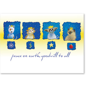 Veterinary Holiday Postcards - Kings & Queens