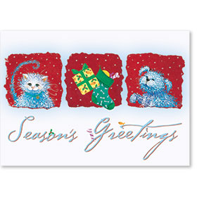 Veterinary Holiday Postcards - Furry Greetings