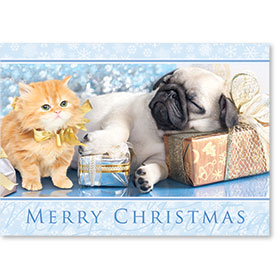 Veterinary Holiday Postcards - Metallic Gifts