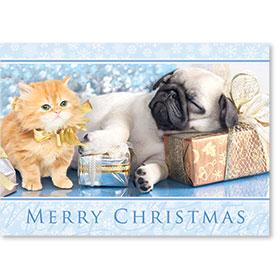 Holiday Postcards-Metallic Gifts