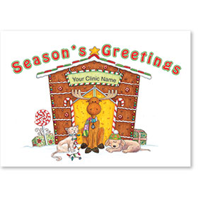 Holiday Postcards-Merry Moose