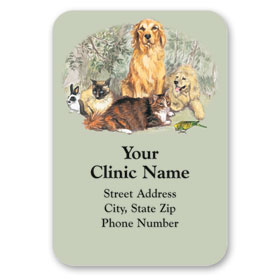 Full-Color Veterinary Magnets - Forest Group