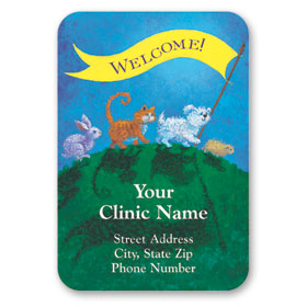 Full-Color Veterinary Magnets - Welcome Banner