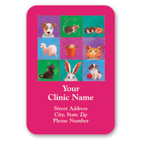 Full-Color Veterinary Magnets - All Critters