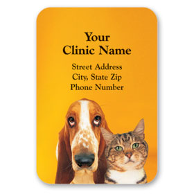 Full-Color Veterinary Magnets - Two Friends
